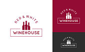 wine logo set design background 10 eps