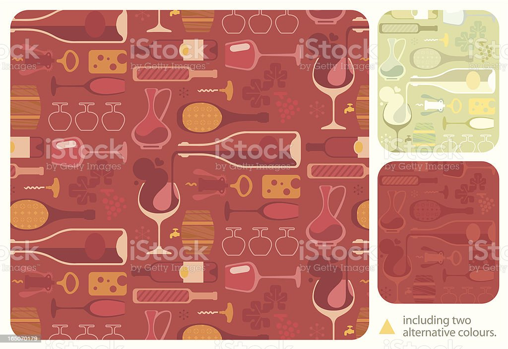 Wine Lover Pattern vector art illustration