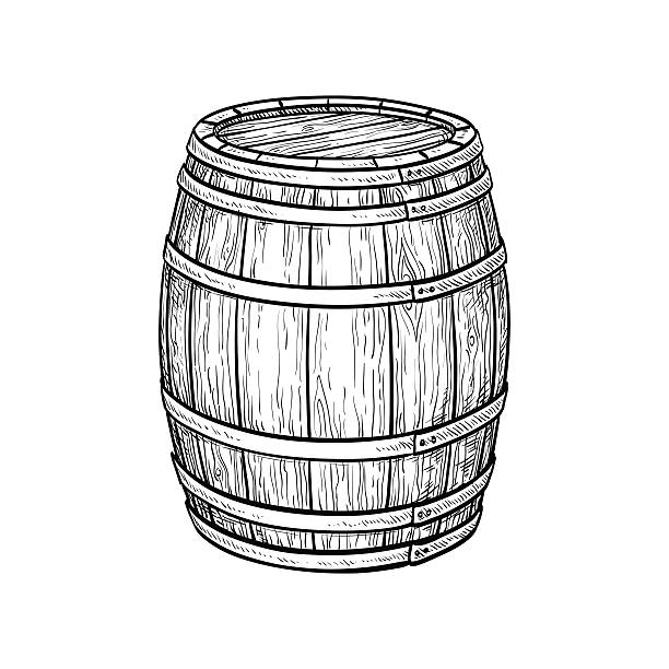 wine or beer barrel - 배럴 stock illustrations