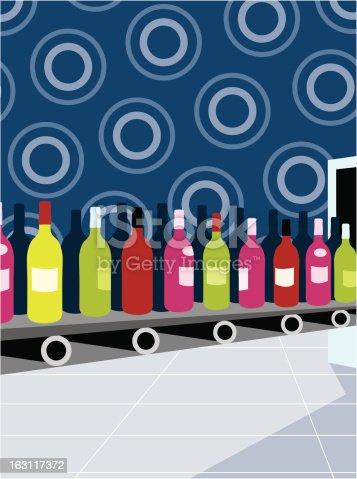 istock wine production line [ bottles ] conveyer belt 163117372