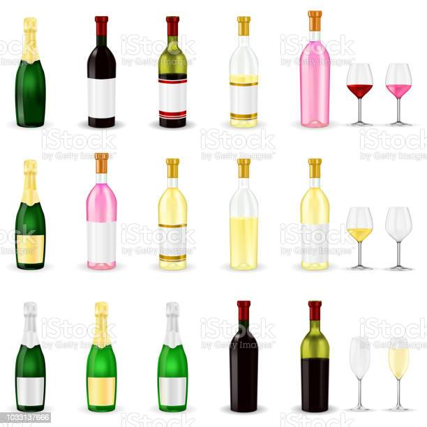 Wine set of 3d wine and champagne bottles and glasses vector id1033137666?b=1&k=6&m=1033137666&s=612x612&h=dz83rnps vbfa9qnjngi j74sknmgio6oy1hetpsywi=