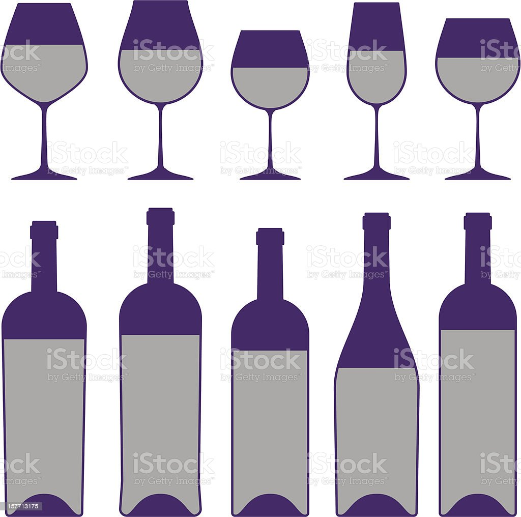 Wine set. royalty-free stock vector art