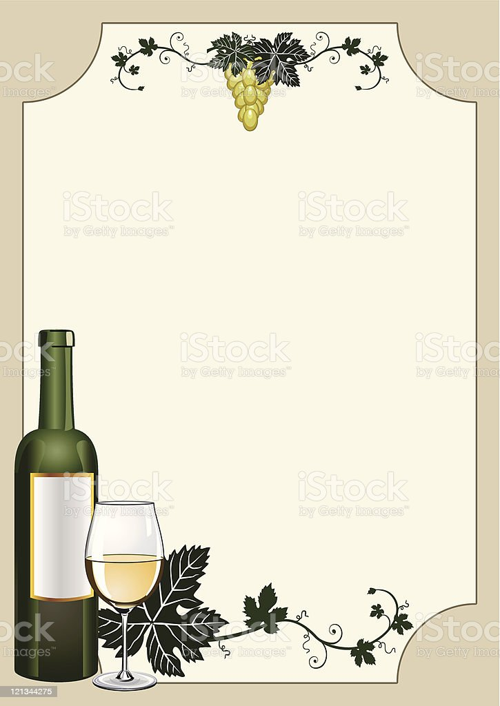 Wine shield vector art illustration