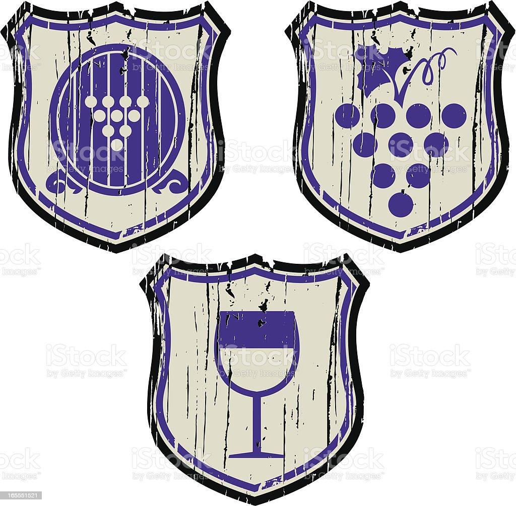 wine shield royalty-free stock vector art