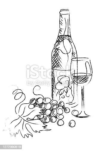 istock wine sketch 1272990519