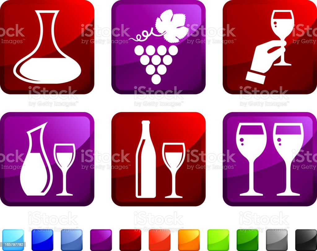Wine Sommelier royalty free vector icon set stickers royalty-free stock vector art