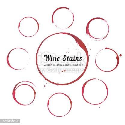 istock Wine stain circles 486348402