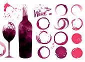 Wine stains set for your designs