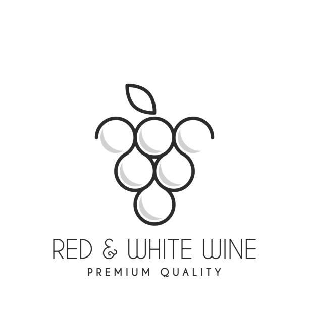 bildbanksillustrationer, clip art samt tecknat material och ikoner med vin förvaras ikonen. emblemet isolerad på vit bakgrund - vineyard