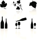 A collection of wine/winery symbols.
