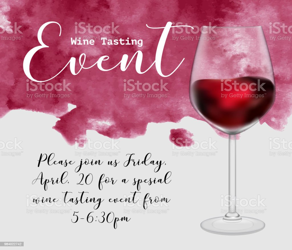 Wine Tasting Event Flyer Template Vector Illustration Transparent - Wine tasting event flyer template free
