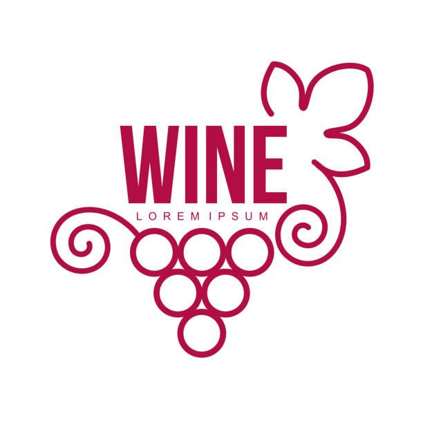 bildbanksillustrationer, clip art samt tecknat material och ikoner med vin mallar - vindruva