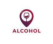wine, alcohol, bottle, vector, icon