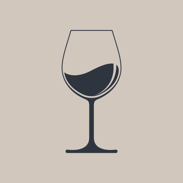 wine - alcohol drink silhouettes stock illustrations