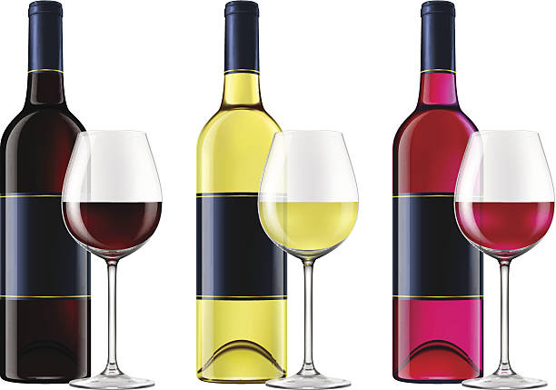 Royalty Free White Wine Bottle Clip Art, Vector Images ...
