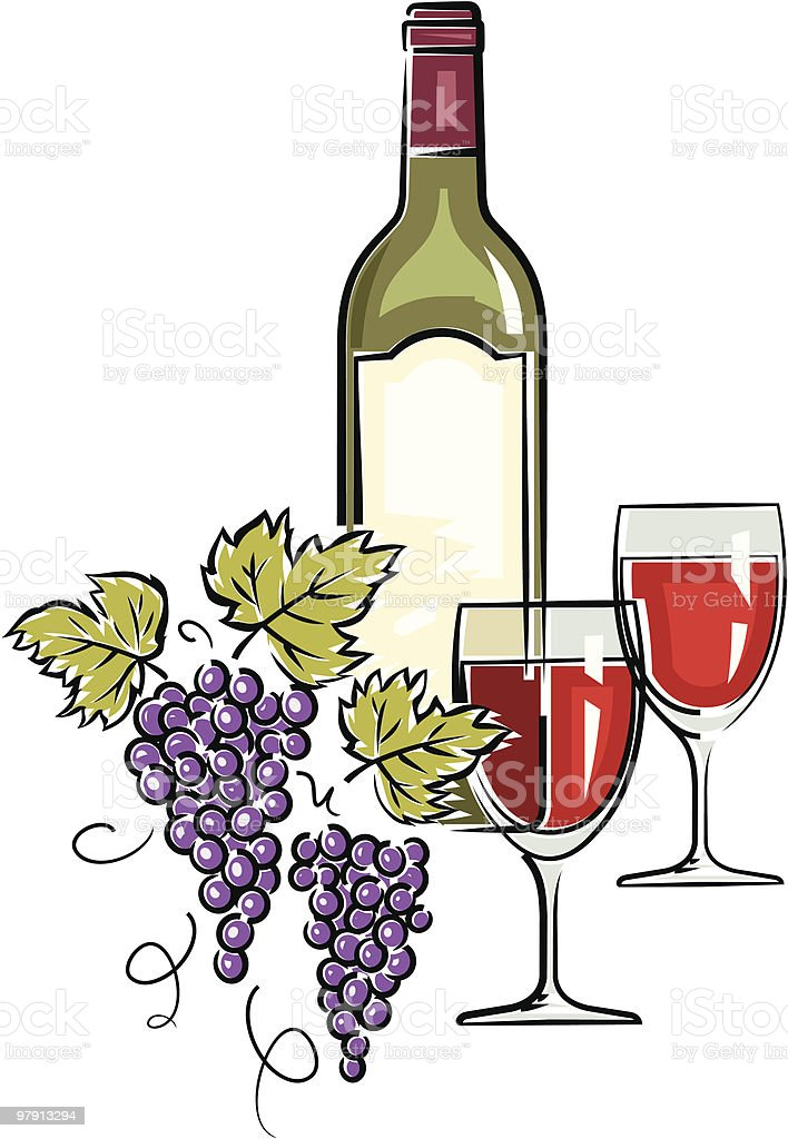 Wine – Vector Illustration royalty-free wine vector illustration stock vector art & more images of alcohol