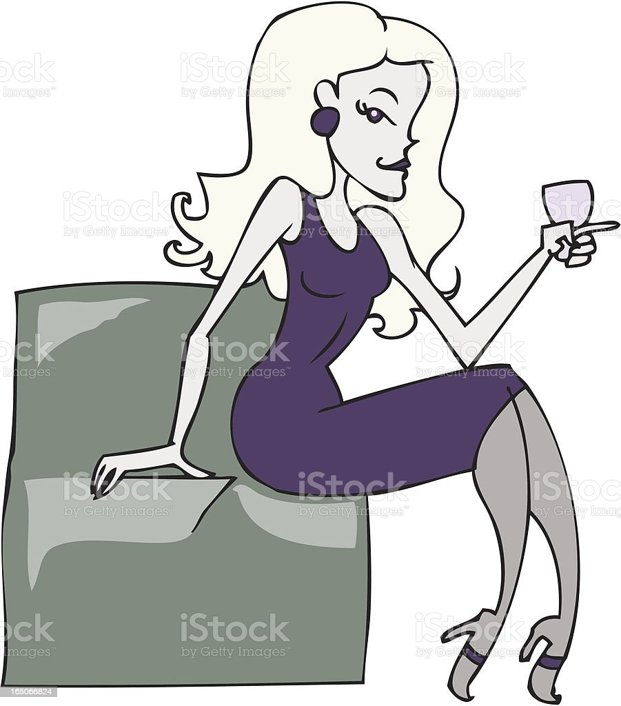 Wine Woman royalty-free wine woman stock vector art & more images of adult