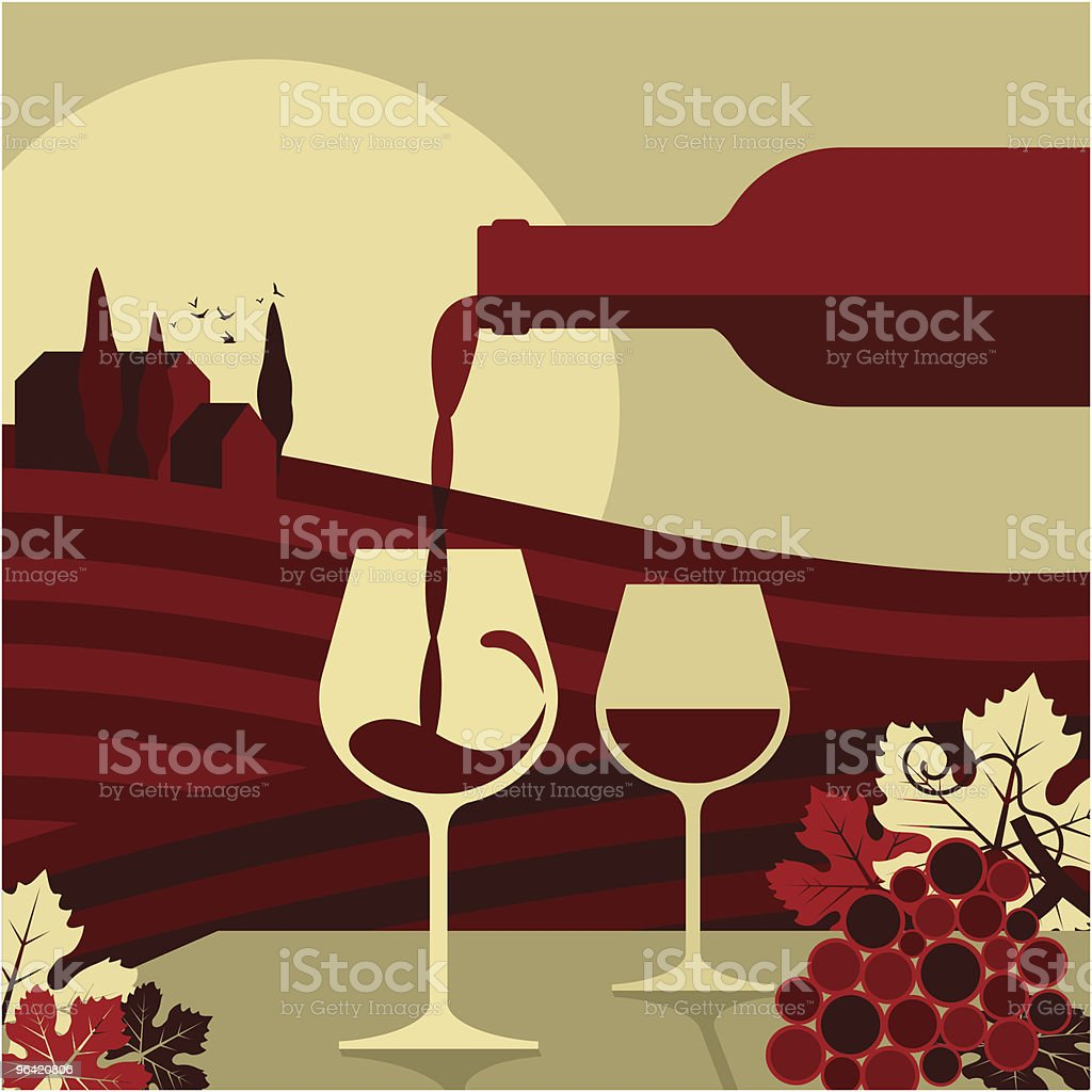 wine,glass bottle vino vin vineyard grape,winemaking vector art illustration