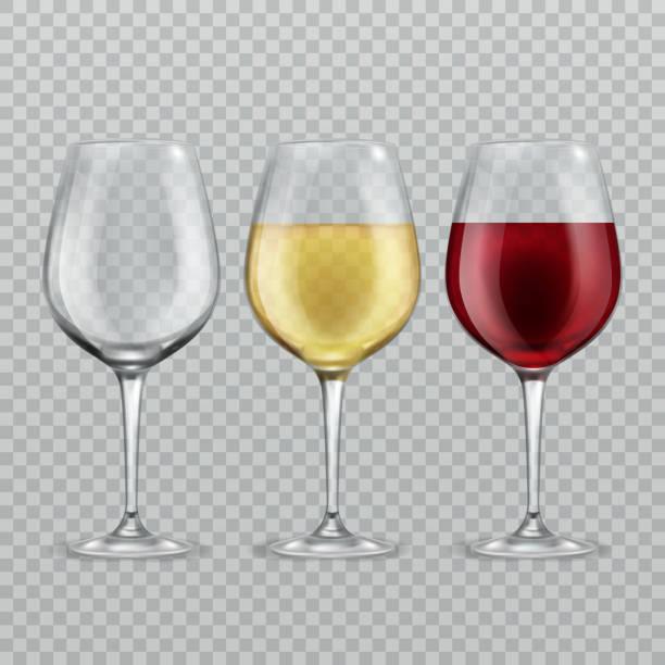 ワイングラス。空に赤と白のワインは透明使い捨てからす分離ガラス ベクトル図 - ワイングラス点のイラスト素材/クリップアート素材/マンガ素材/アイコン素材