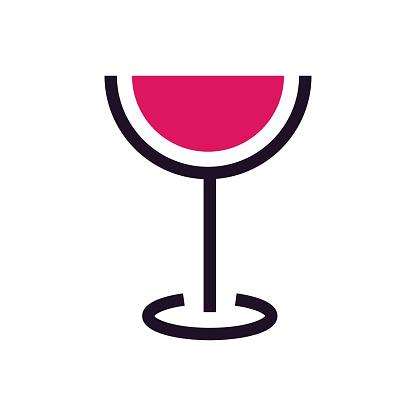 Wineglass flat design