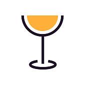 istock Wineglass flat design 1289329424