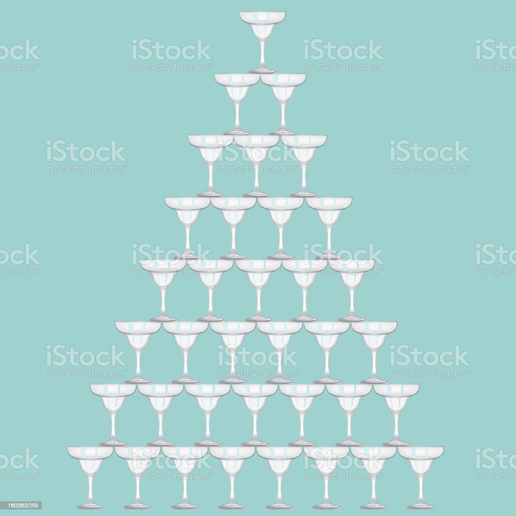 Wineglass pyramid. royalty-free stock vector art