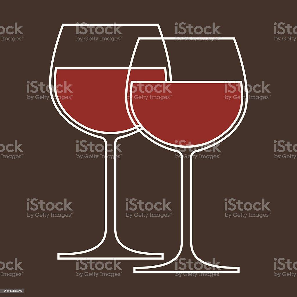 Wineglasses vector art illustration