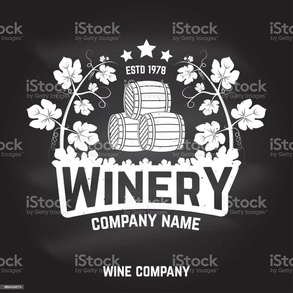 Winery badge, sign or label. Vector illustration winery badge sign or label vector illustration - stockowe grafiki wektorowe i więcej obrazów alkohol royalty-free