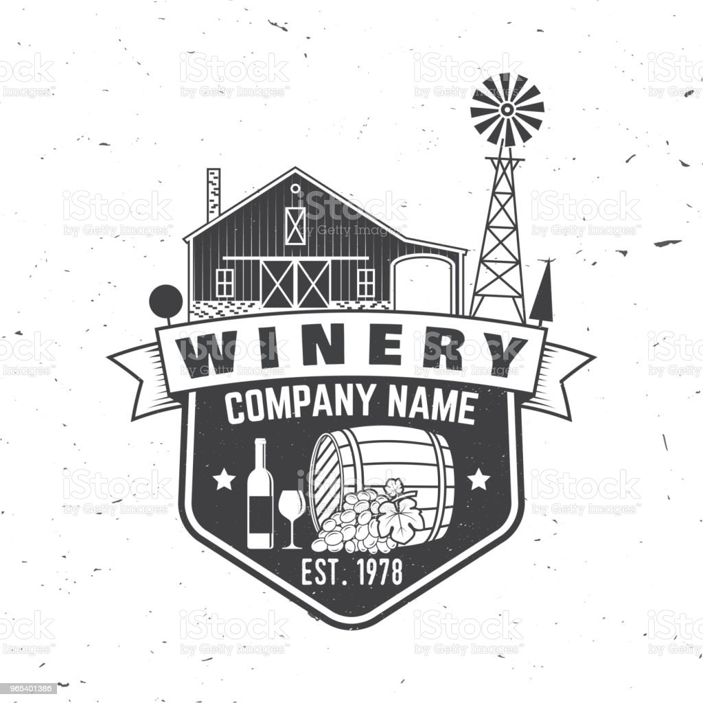 Winery company badge, sign or label. Vector illustration royalty-free winery company badge sign or label vector illustration stock vector art & more images of agriculture
