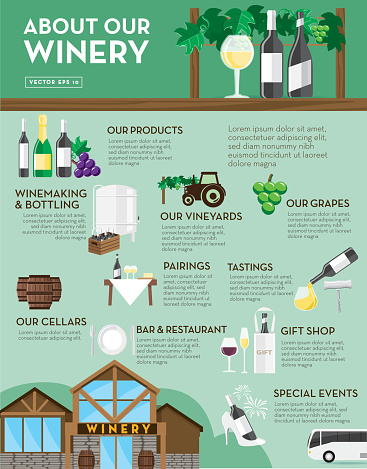 Winery sales sheet design template layout