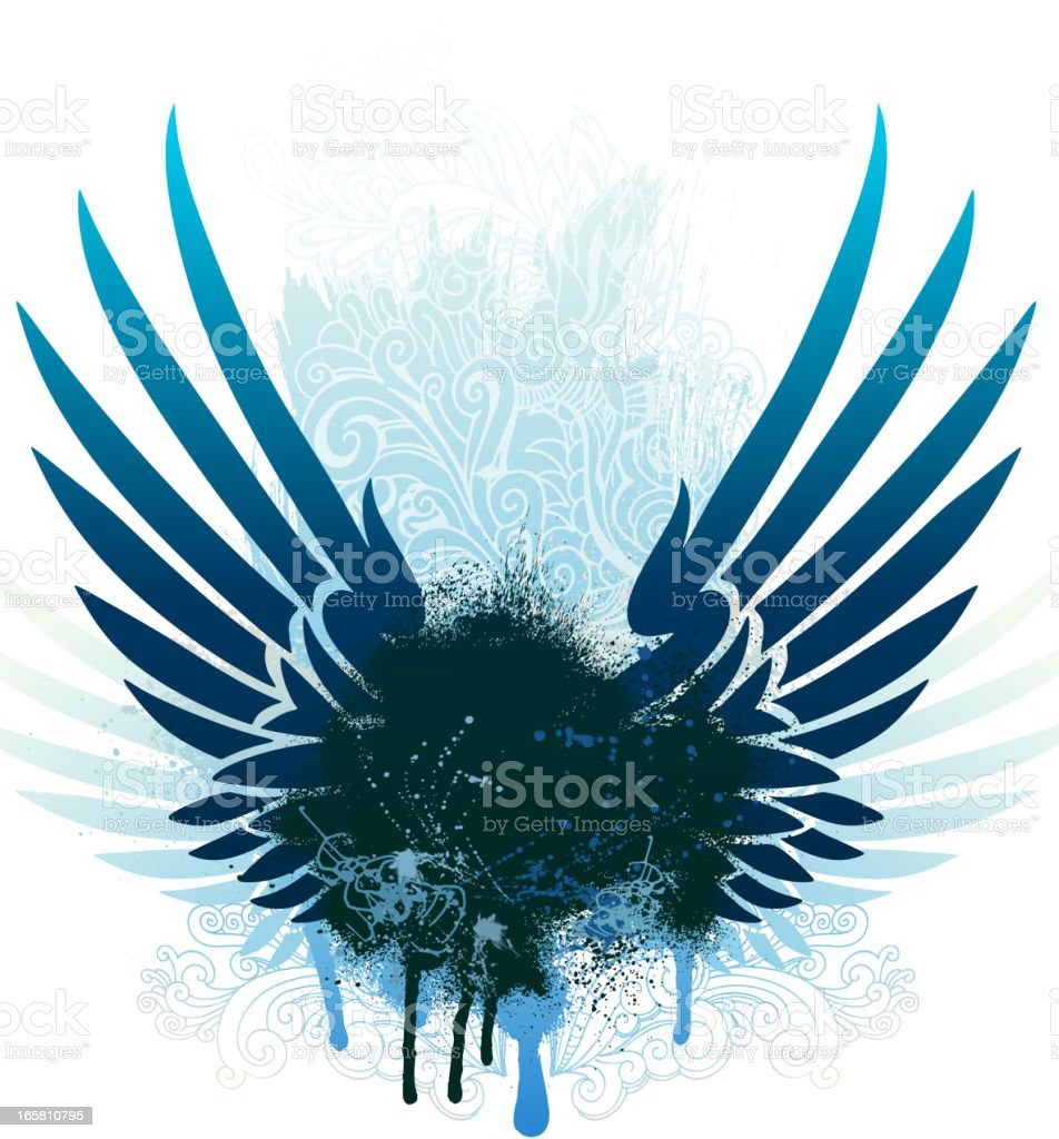 Wing elements royalty-free stock vector art
