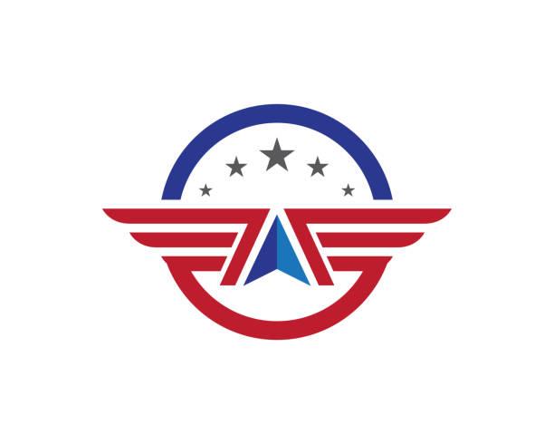 flügel falcon logo vorlage - schutzengel stock-grafiken, -clipart, -cartoons und -symbole