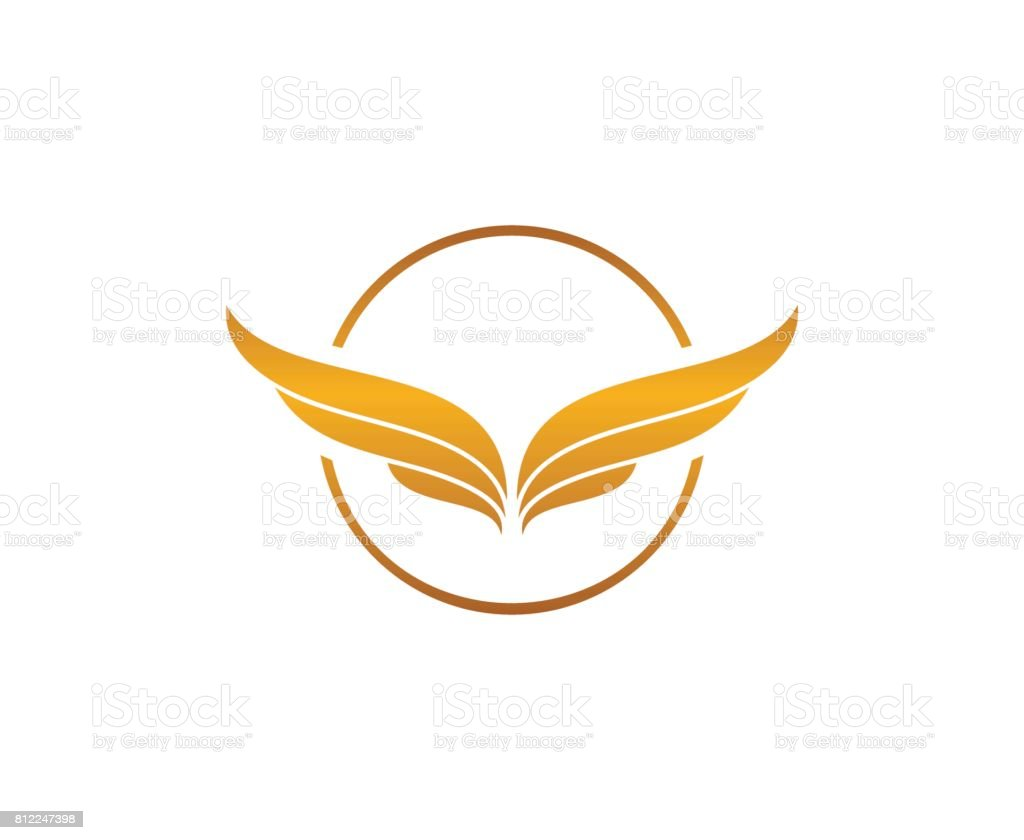 Wing icon vector art illustration