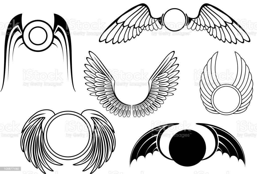 Wing symbols royalty-free stock vector art