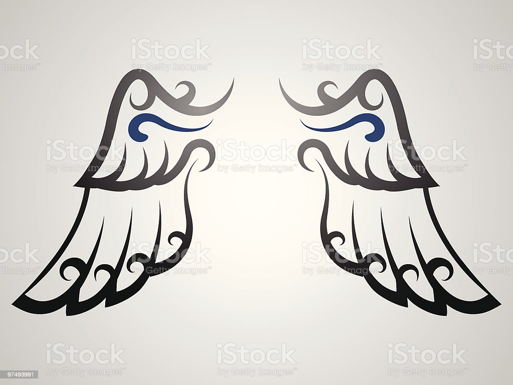 Wing Tattoo royalty-free wing tattoo stock vector art & more images of angel