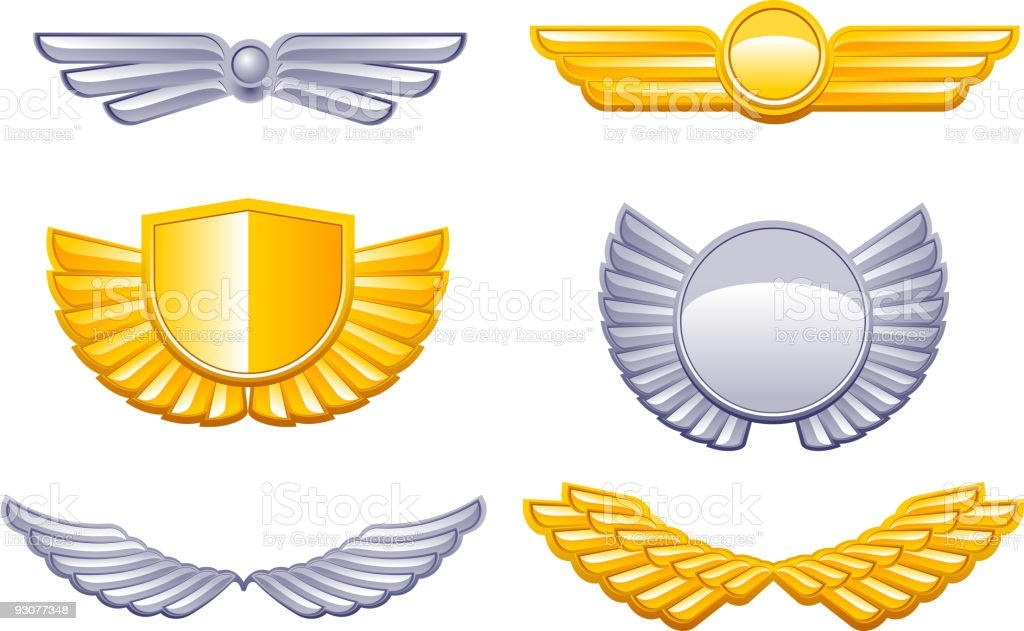 wing royalty-free stock vector art