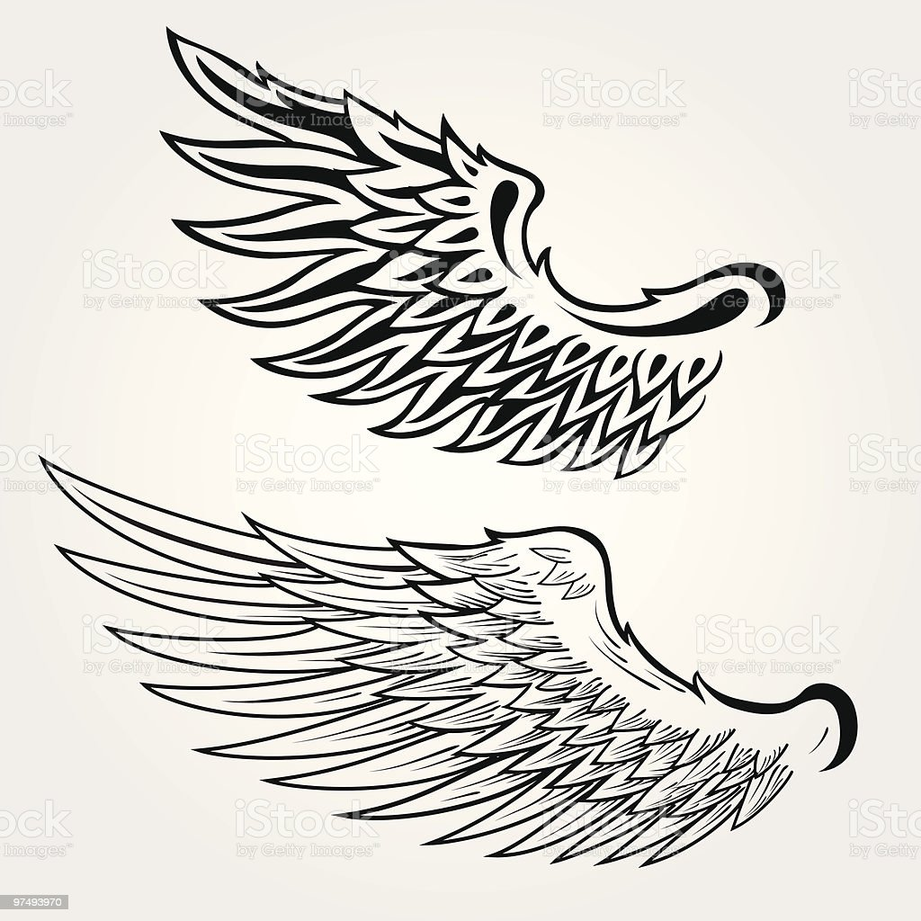 Wing royalty-free wing stock vector art & more images of angel