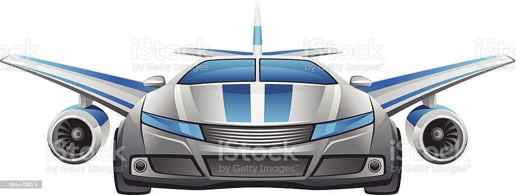 Winged car royalty-free stock vector art