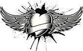 winged heart tatoo