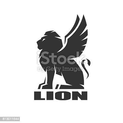 Winged lion, , symbol.