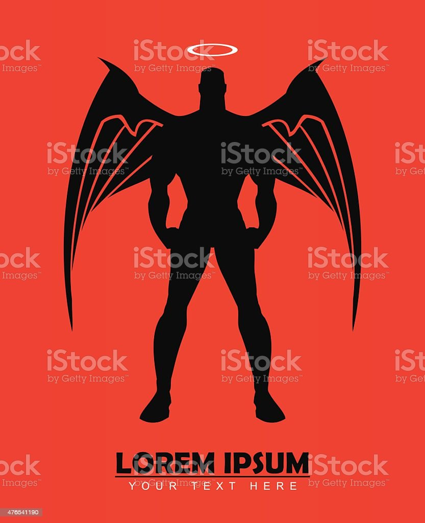 winged man, guardian angel