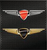Winged Metallic Emblems