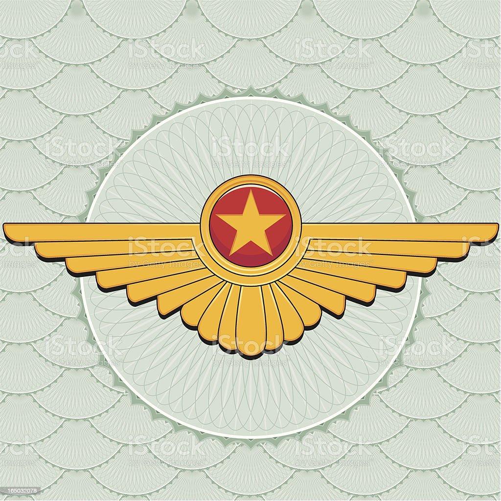 Winged Pin royalty-free stock vector art