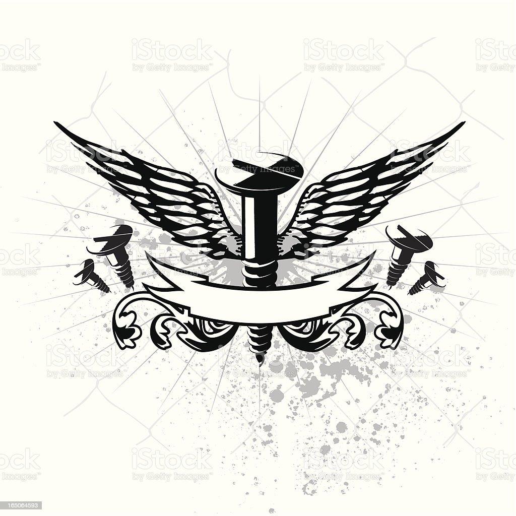 winged screw royalty-free stock vector art