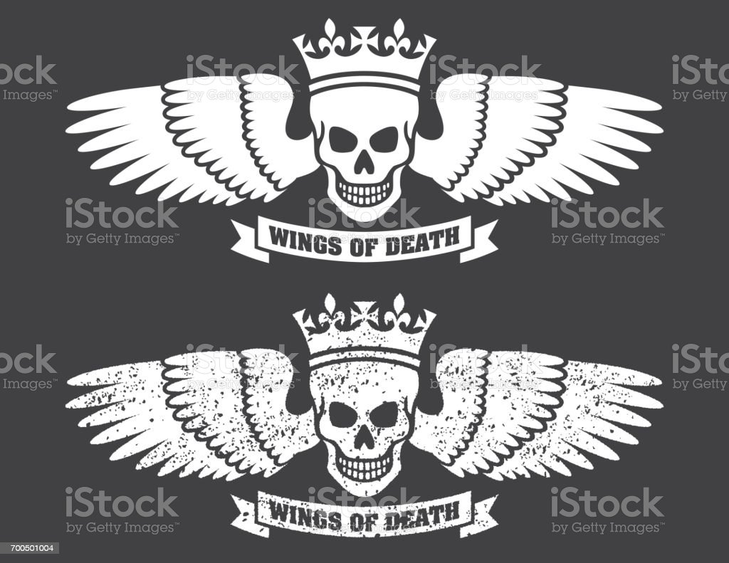 Winged Skull Vector Design