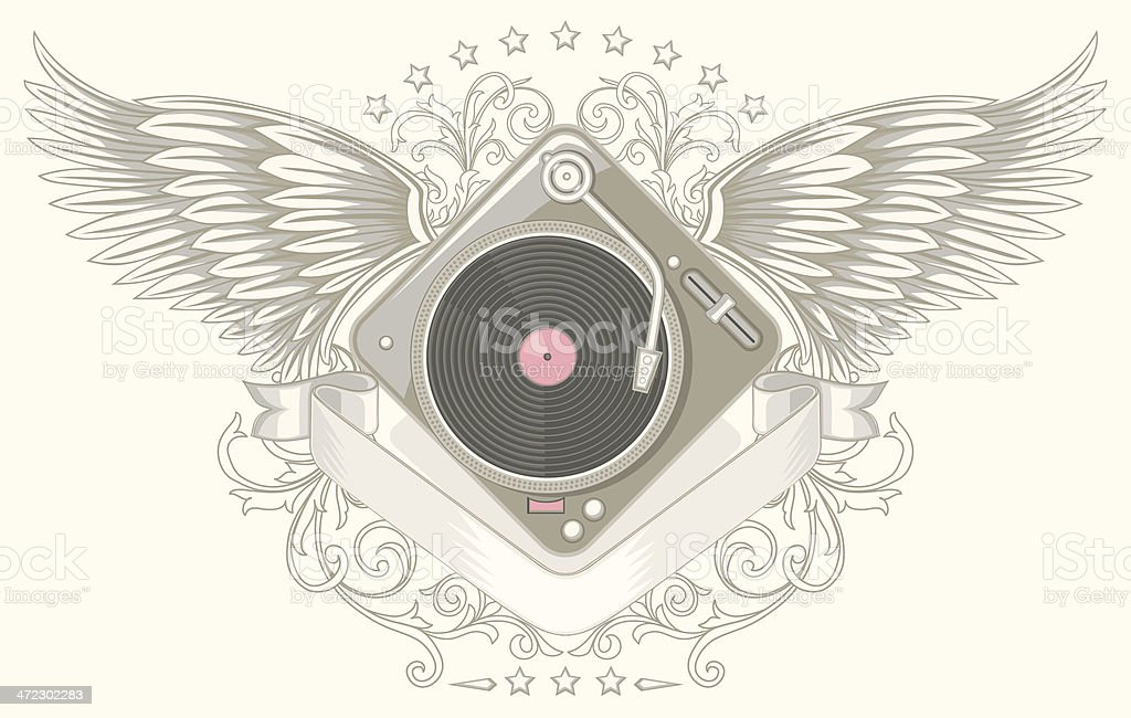 Winged turntable royalty-free winged turntable stock vector art & more images of abstract