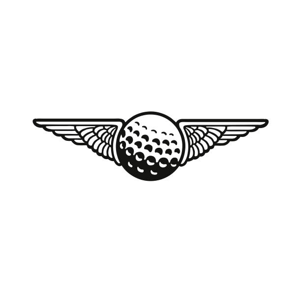 Wings and a Golf Ball Wings and a Golf Ball golf ball stock illustrations