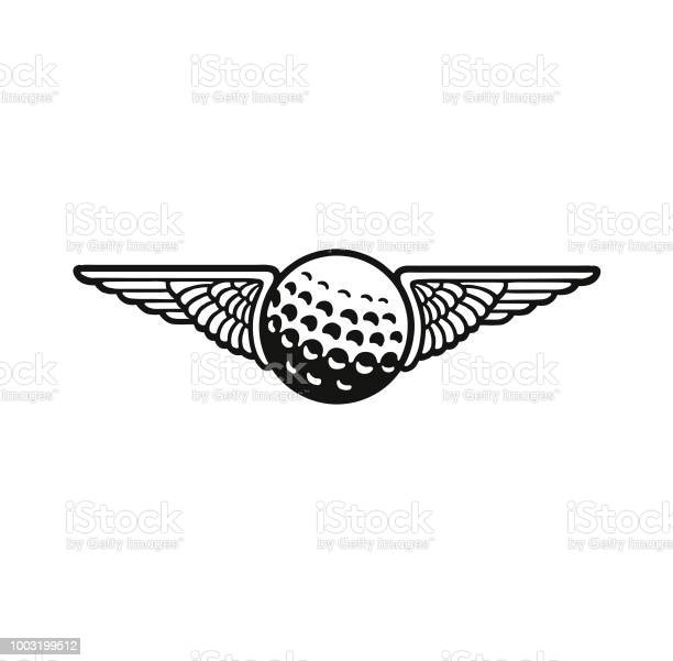 Wings And A Golf Ball Stock Illustration - Download Image Now