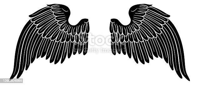 istock Wings Angel or Eagle Pair 1266804564
