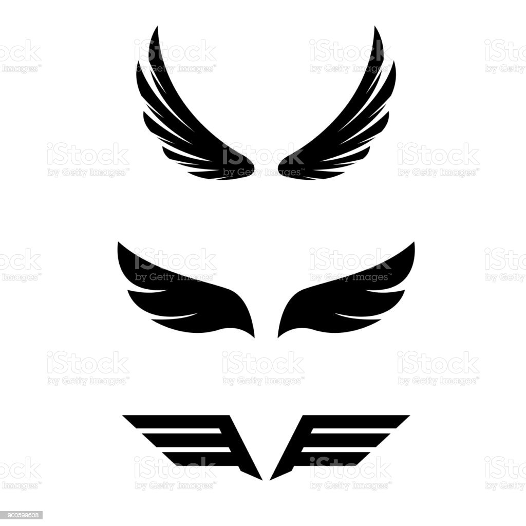 wings collection illustration vector art illustration